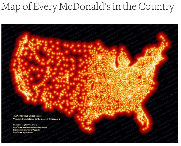 Map Of Every McDonalds In US Pic - Maps of us mcdonals locations